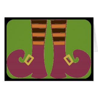 Los pies de la bruja tarjeta de felicitación