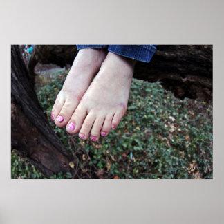 Los pies de Raquel Póster