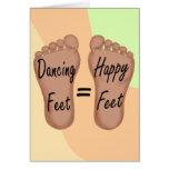 Los pies del baile son pies felices tarjeta pequeña