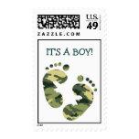 ¡Los pies del bebé del verde caqui del camuflaje Envio