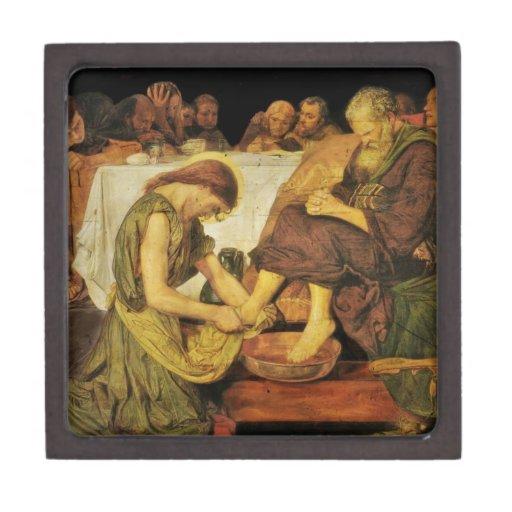 Los pies del discípulo de Jesús Caja De Recuerdo De Calidad