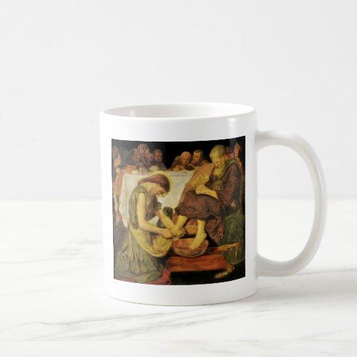 Los pies del discípulo de Jesús Tazas De Café