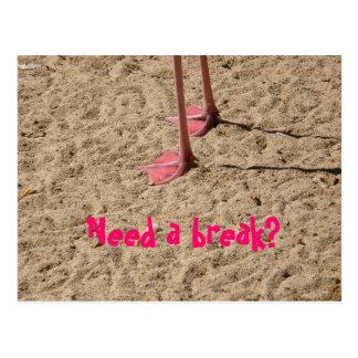 ¿los pies en la arena, necesitan una rotura? tarjeta postal