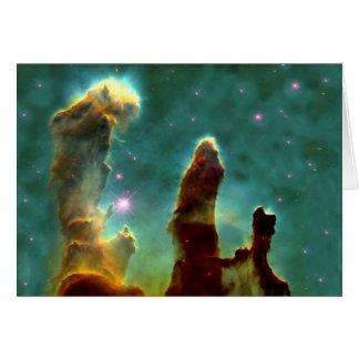Los pilares de Eagle de la creación Felicitación