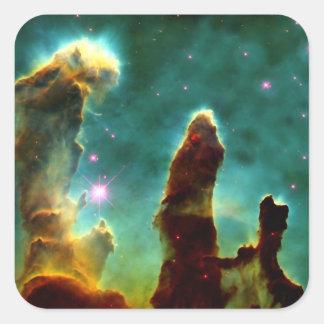Los pilares de la creación pegatina cuadrada
