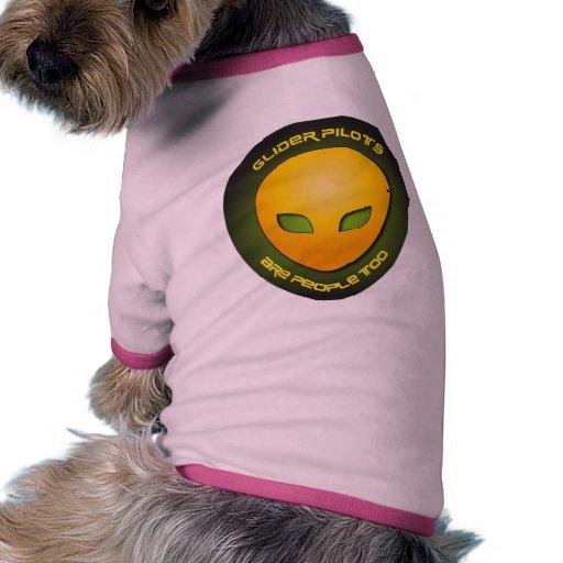 Los pilotos de planeador son gente también ropa de perros