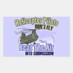 Los pilotos del helicóptero no vuelan… [CH-47] Rectangular Pegatina