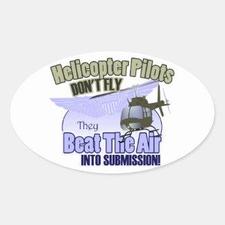 Los pilotos del helicóptero no vuelan… [OH-58] Calcomanía De Óval