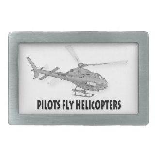 Los pilotos vuelan los helicópteros hebillas cinturon rectangulares