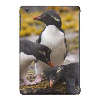 Los pingüinos de Rockhopper comunican con uno a Fundas De iPad Mini Retina