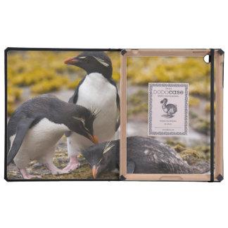 Los pingüinos de Rockhopper comunican con uno a iPad Carcasas