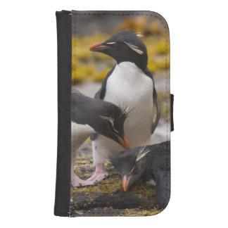 Los pingüinos de Rockhopper comunican con uno a Fundas Tipo Cartera Para Galaxy S4