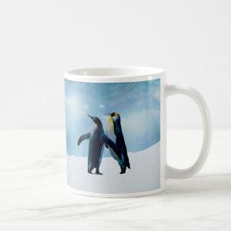 Los pingüinos viven y dejan vivo taza