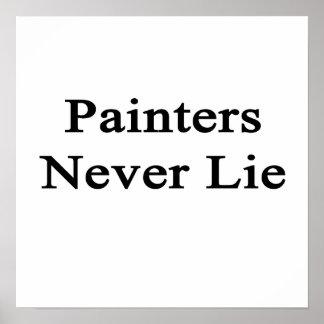 Los pintores nunca mienten poster