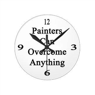 Los pintores pueden superar cualquier cosa relojes de pared