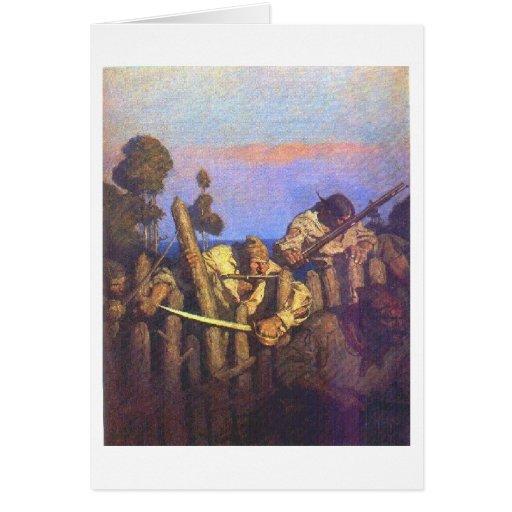 Los piratas asaltan las estacadas tarjeton