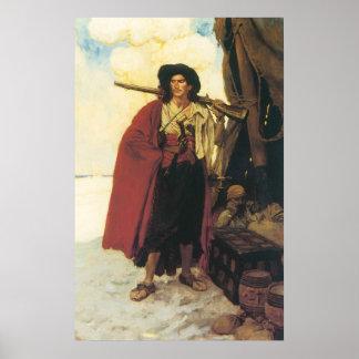 Los piratas Bucanero del vintage eran una persona Póster