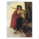 Los piratas Bucanero del vintage eran una persona Tarjeta