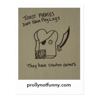 Los piratas de la tostada no tienen piernas de cla tarjetas postales