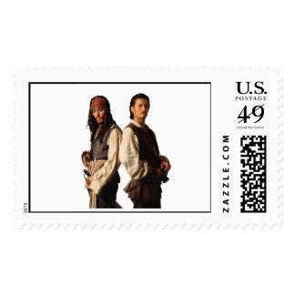 Los piratas del Caribe Jack Sparrow y lo van a Sello Postal