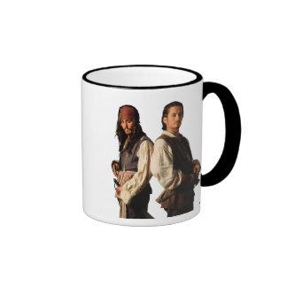 Los piratas del Caribe Jack Sparrow y lo van a Taza De Dos Colores