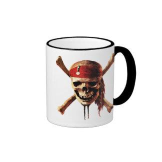 Los piratas del cráneo del Caribe torches el logot Tazas