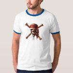 Los piratas del cráneo del Caribe torches el Playera