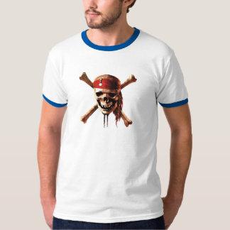 Los piratas del cráneo del Caribe torches el Poleras