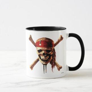 Los piratas del cráneo del Caribe torches el Taza