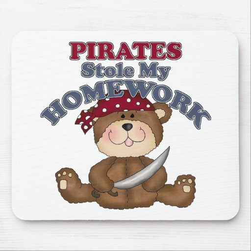 Los piratas divertidos robaron mi preparación alfombrilla de ratones