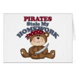 Los piratas divertidos robaron mi preparación tarjetas