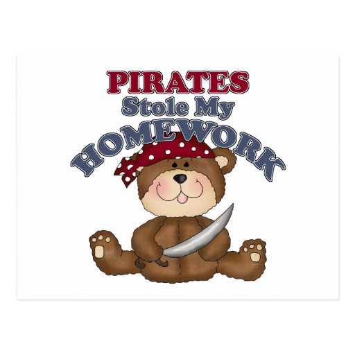 Los piratas divertidos robaron mi preparación postal
