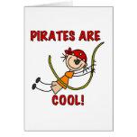 Los piratas son frescos tarjetón