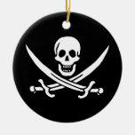 Los piratas son l� - adorno redondo de cerámica