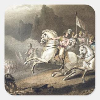 Los Pirineos, el 28 de julio de 1813, 'de las Pegatina Cuadrada