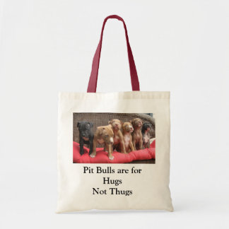 Los pitbulls están para los abrazos, no gamberros bolsa tela barata