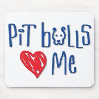 Los pitbulls me aman mouse pads