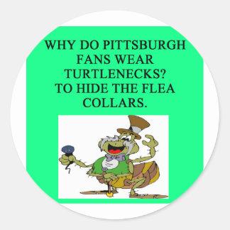 Los Pittsburgh Steelers Pegatina Redonda
