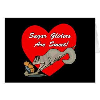Los planeadores del azúcar son Notecards dulce Felicitación