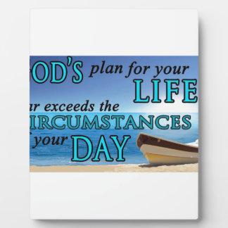 Los planes de dios para su vida placa de madera