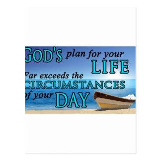 Los planes de dios para su vida postales