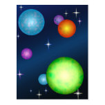 Los planetas asolean diseño de espacio de las estr postal