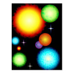 Los planetas asolean diseño de espacio de las estr tarjeta postal