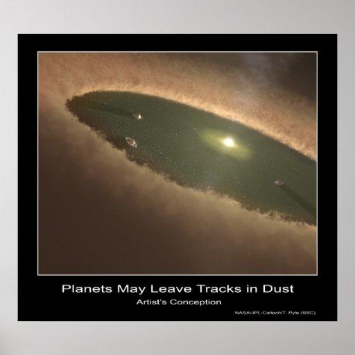 Los planetas pueden dejar pistas en el polvo - Con Poster