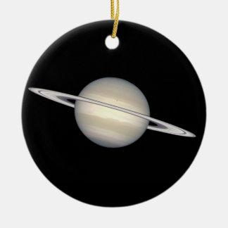 Los planetas Saturn y Júpiter Adorno Redondo De Cerámica