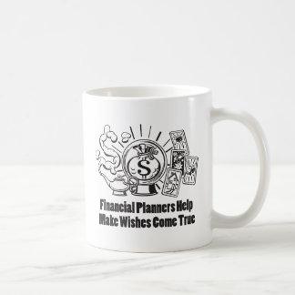 Los planificadores financieros hacen que los taza de café