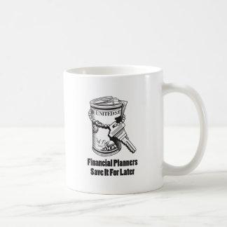 Los planificadores financieros lo ahorran para más taza de café