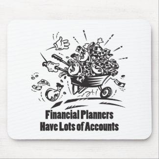Los planificadores financieros tienen porciones de mouse pad