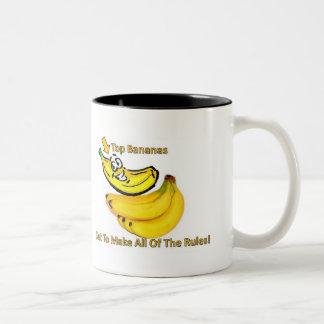 ¡Los plátanos superiores consiguen hacer todas las Taza Dos Tonos