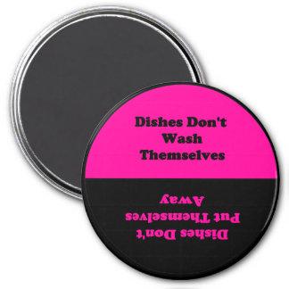 Los platos no se hacen… imán del lavaplatos